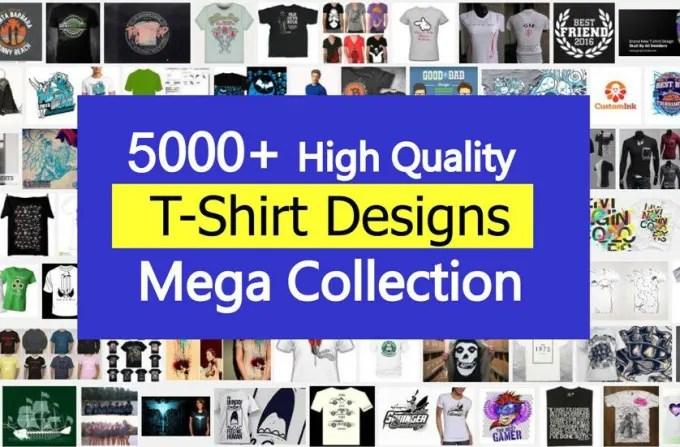 deliver 5000 graphic tshirt designs mega bundle
