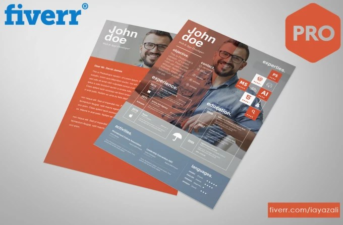 Professionally edit and design your resume, curriculum vitae, by