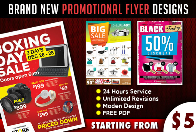 Design your promotion or sale flyer design by Angrycabdesign