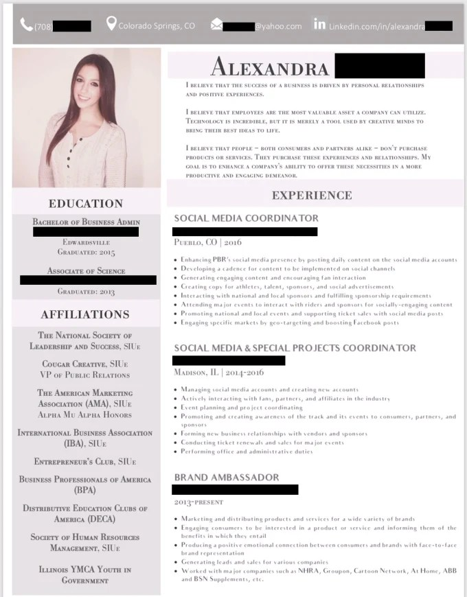 Create your professional resume or linkedin profile by Alexandrachris