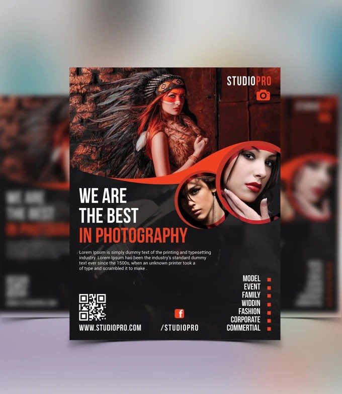 Do professional photography flyer, poster, brochure design by Raufunnur - Photography Flyer