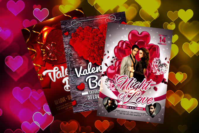 Design special valentines day flyer or poster for you by Fhdmemon