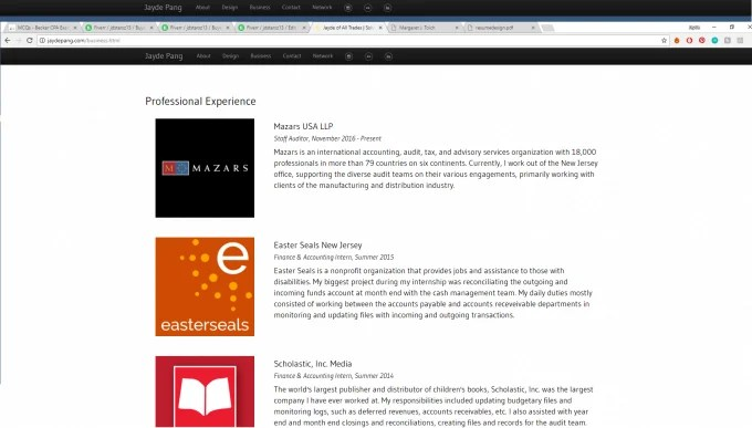 Make interactive resume website by Jdstarsz13