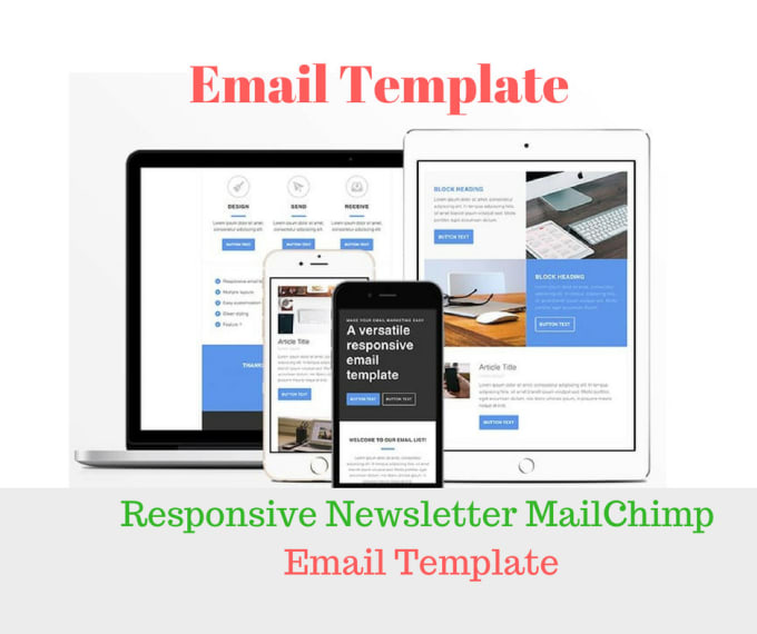 Design responsive email template with newsletter mailchimp by