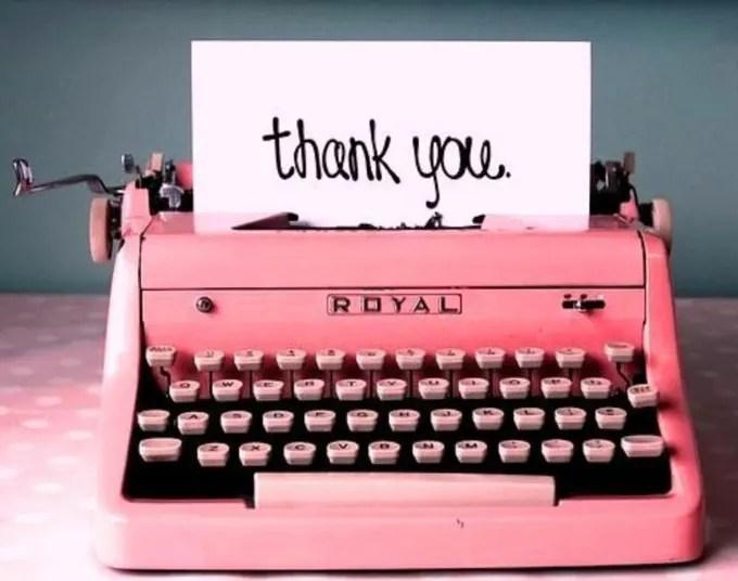 Write a heartfelt thank you letter by Pduke1019