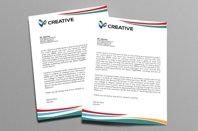 Make creative letterhead design for your business by Apurbo777