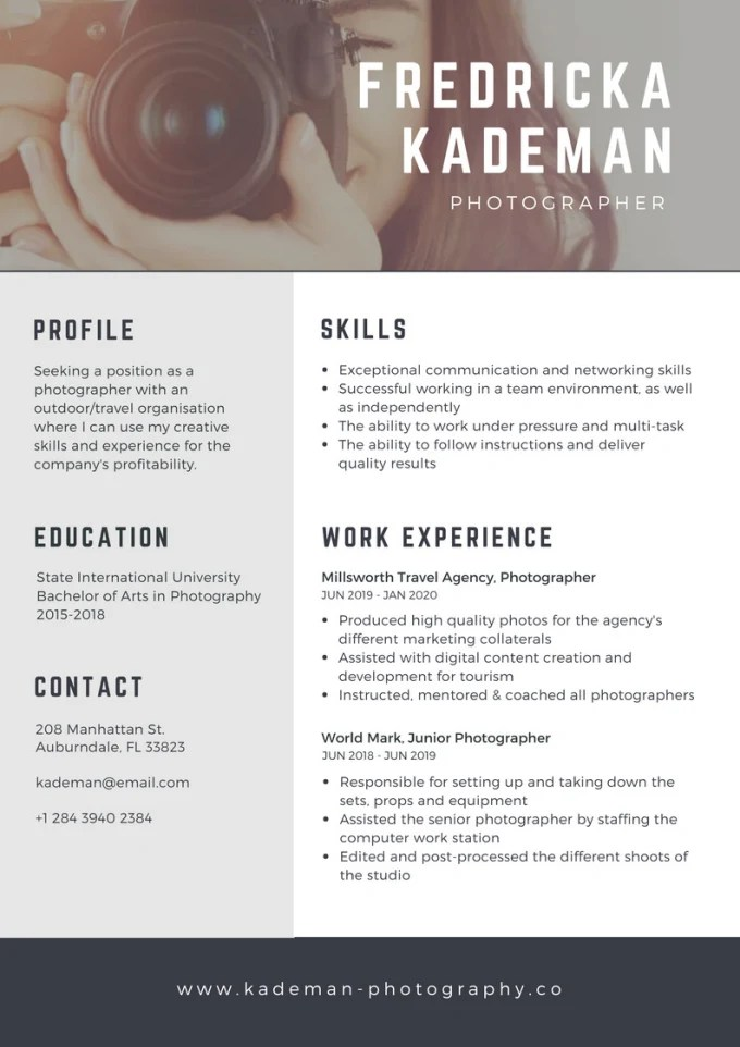 Make your resume stand out with beautiful graphics by Nataliadesign