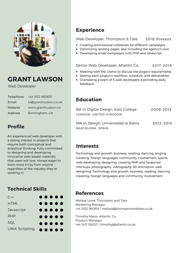 Create an awesome resume by Hedibenammar