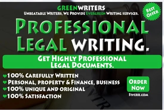 Write legal document, writing,contract,agreements, tos, by Go2rsm - writing contract agreements