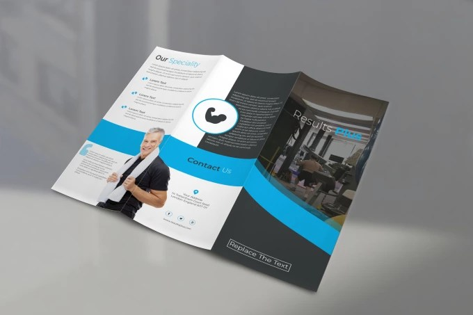 Make modern business trifold brochure by Sniderfrabbi