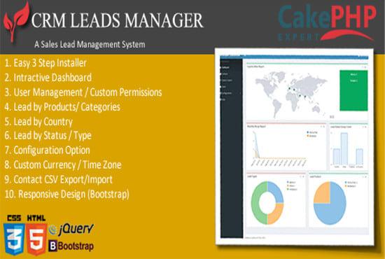 Crm sales lead tracker php script by Scriptbazaar