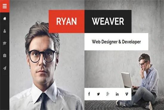 Create a killer online resume wordpress website by Faixalali