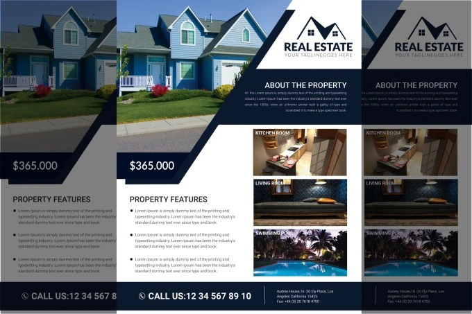 Design a professional real estate flyer by Miseries
