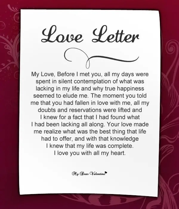 Write a romantic love letter for you by Alibukh