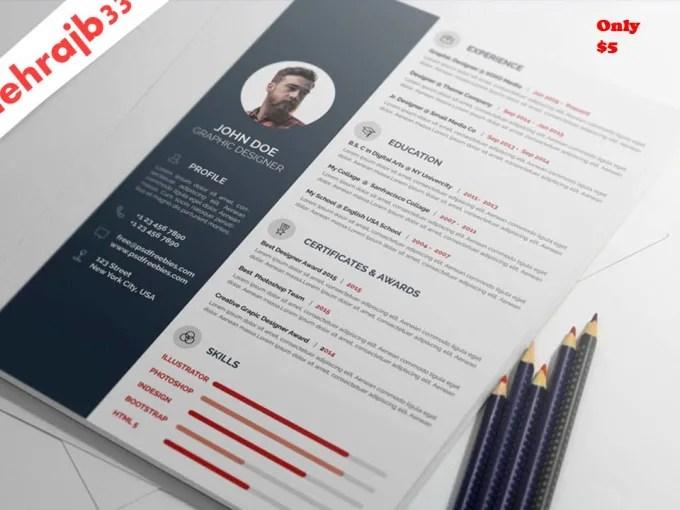 Create a custom resume ,cv by Mehrajb33