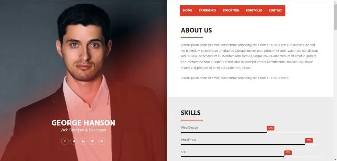 Create web resume,design online portfolio, resume website by