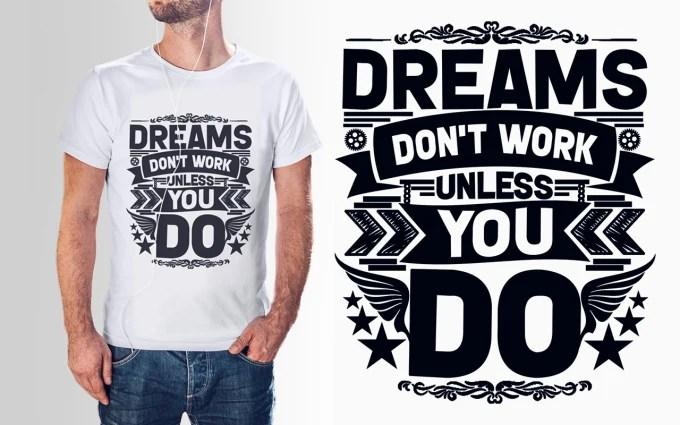 create custom typography t shirt design Fiverr