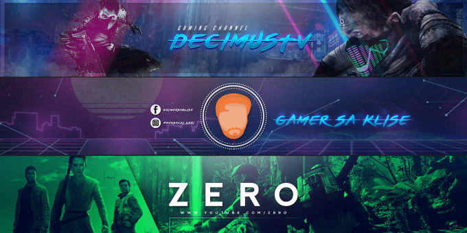 Design professional youtube banner by Darnelll