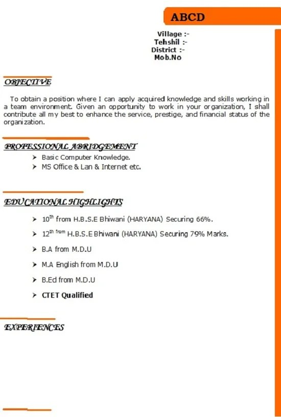 Create a basic resume or cv or cover letter or linkedin profile by