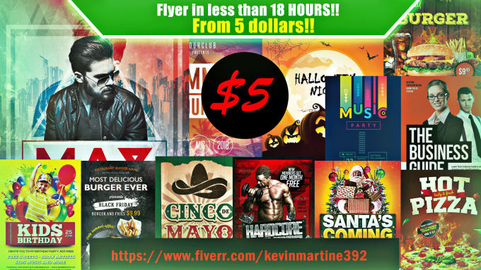 Create a perfect and professional flyer in 18 hours by Kevinmartine392