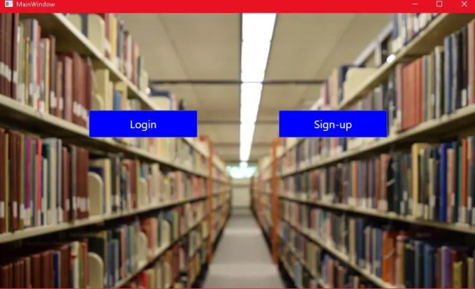 Create a library management system using c sharp in wpf by