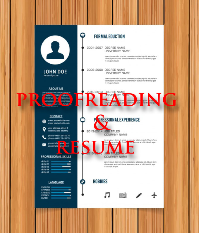 Be your virtual assistant in proofreading research and resume by