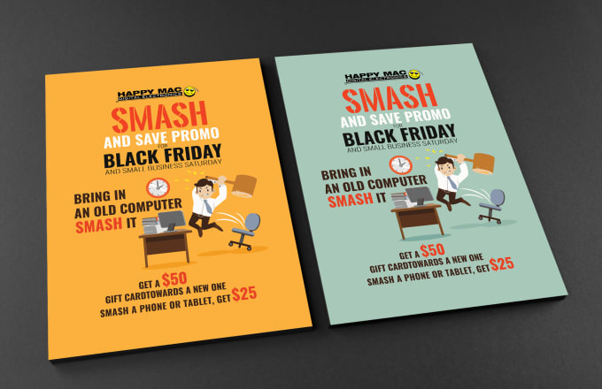 Make custom catchy flyer, brochure and poster in 1 day by