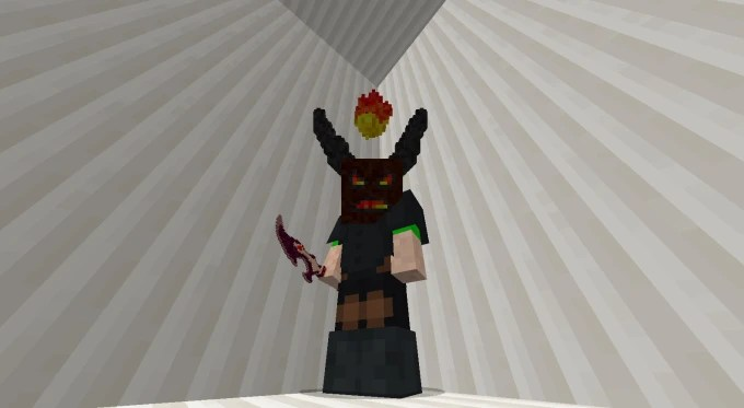 Create a minecraft 3d model for a texture pack by Ninetailsplays