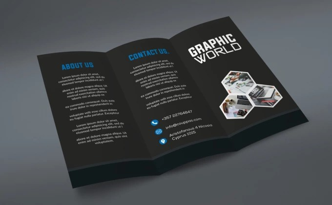 Make creative trifold brochure design by Graphic_world5