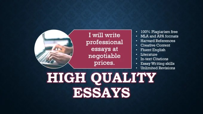 Write high quality essays by Leslie2018