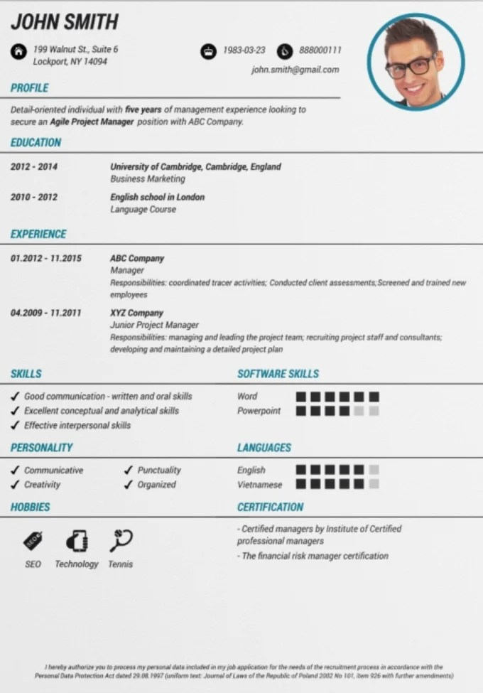 Create a interactive and eye catching resumes or cvs by Subrahmanyak
