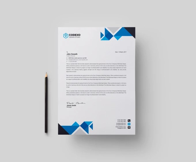 Design simple and nice looking letterhead word template by Stargraph17