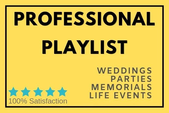 Create a dj mix for your wedding party playlist or event by