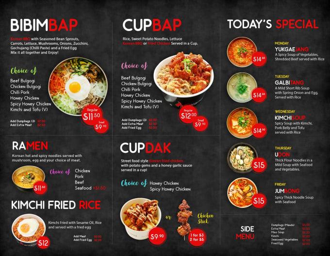 Design food menu, restaurant menu and menu board design by Ahmed_nil