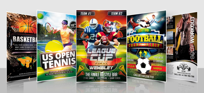 Design an amazing and eye catching sports and fitness flyer by
