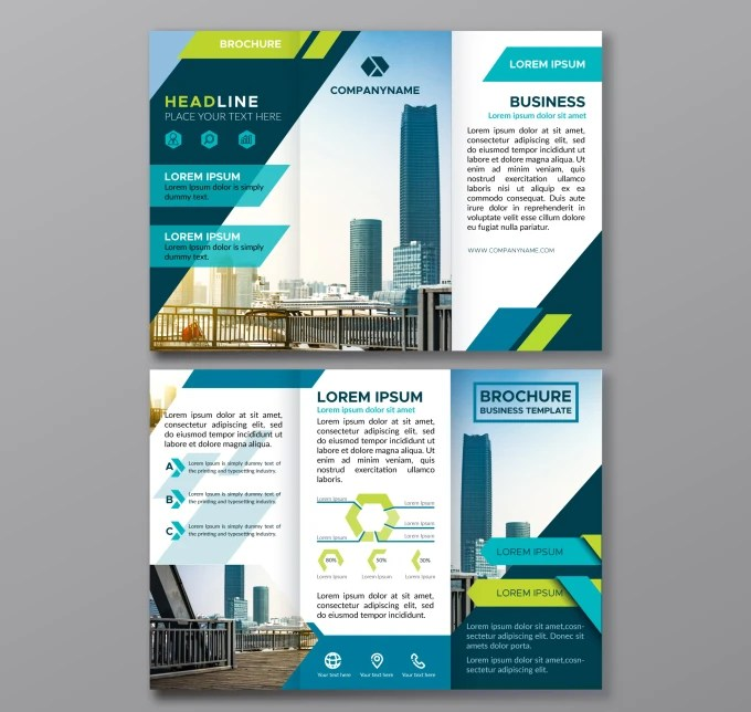 Make modern and attractive bifold or trifold brochure design by
