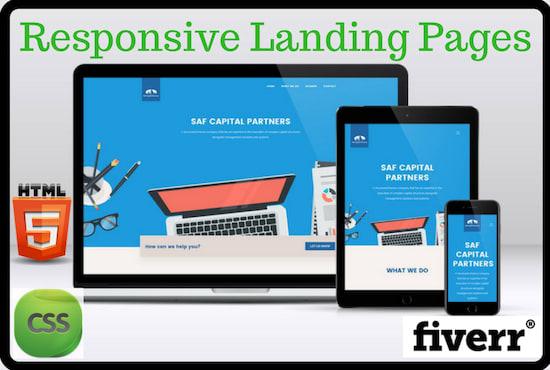Design a responsive landing page by Mianuzman