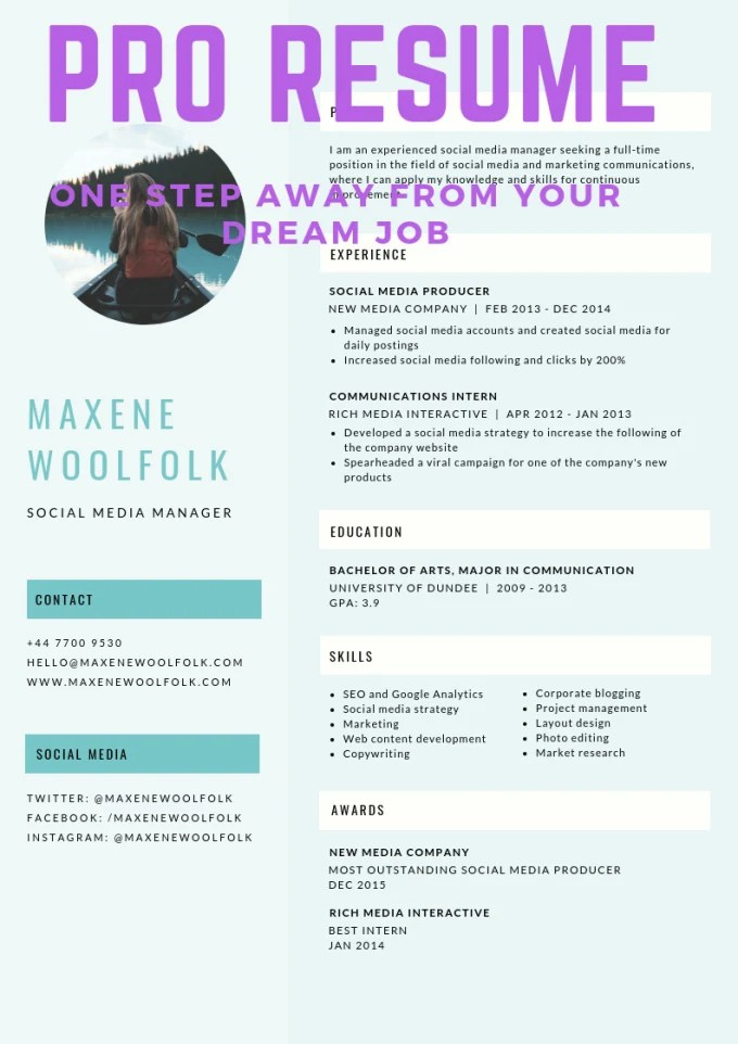 Write an award winning resume for you by Andrewgichaga