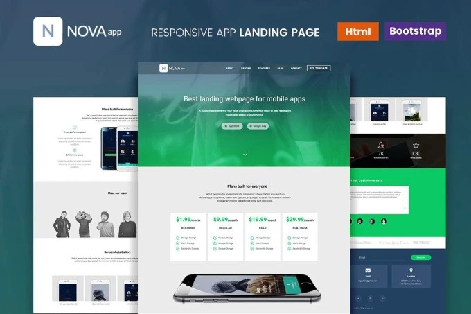 Create a wordpress landing page or html landing page by Deftmasters