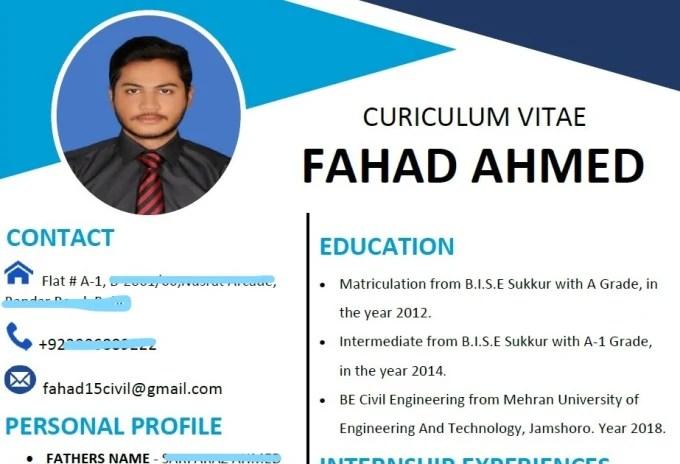 Create resume, curriculum vitae, cv by Faayy1