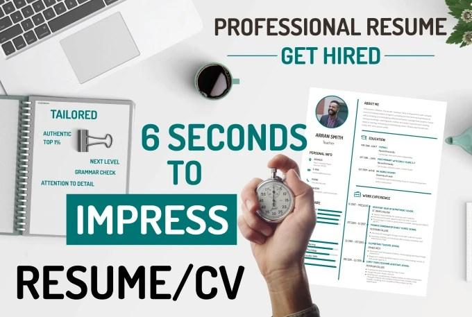 Be your tailored resume writer, resume designer, cv writer,cv