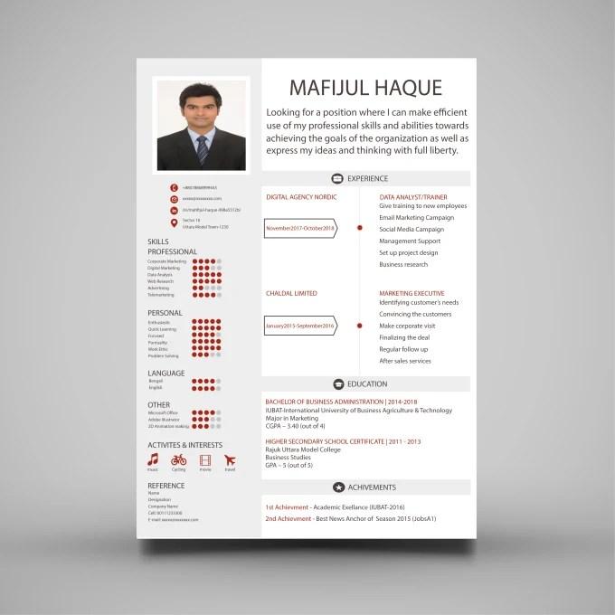 Design, redesign, edit your resume, cv, cover letter and linkedin