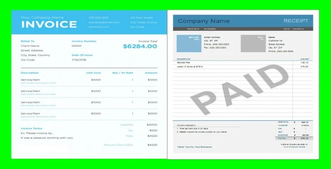 Create fillable pdf business invoices and receipts within 24 hours