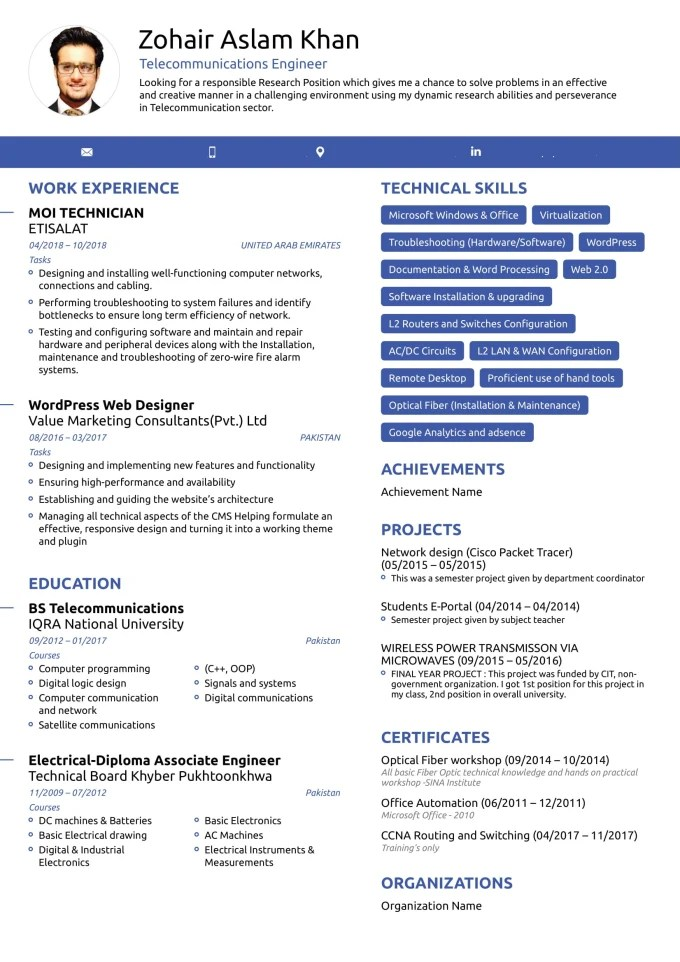 Create your professional entry level resume, cover letter by Zohair04