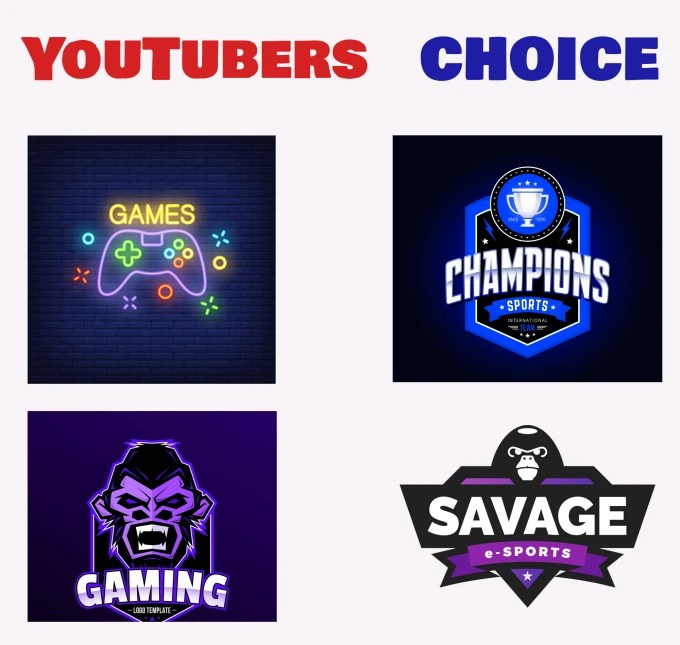 Make gaming logo design for your youtube channel by Lukachitadze
