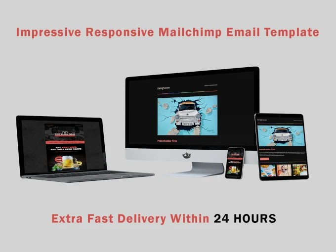 responsive mailchimp html email template Fiverr