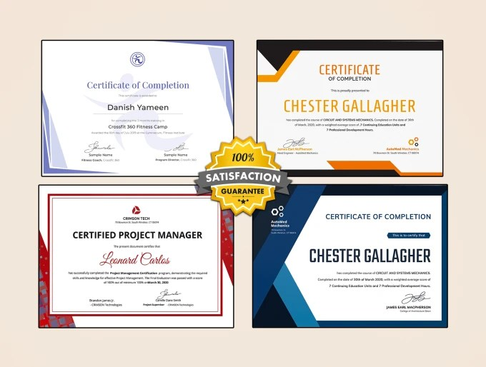 Make professional certificates for u by Danishgraphicer