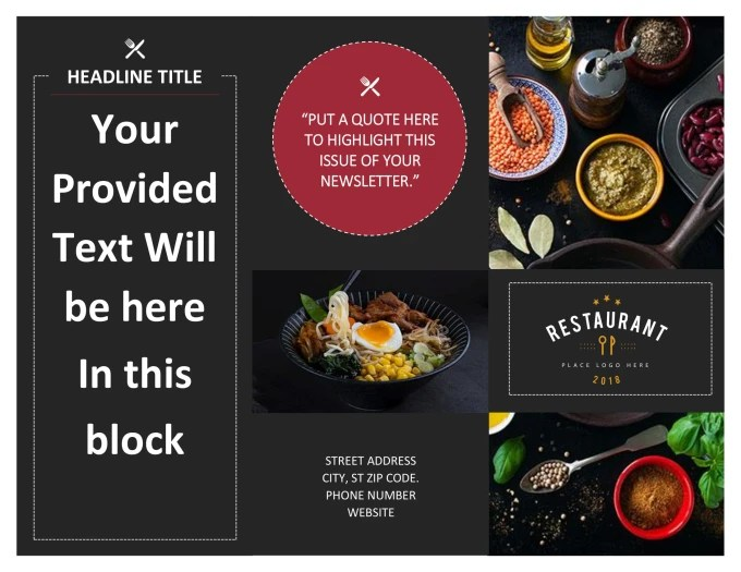 Make this restaurant brochure within 24 hours by Mahirajputt