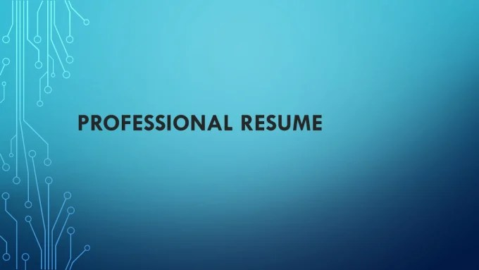 Do professional resume in one day by Rilwan123