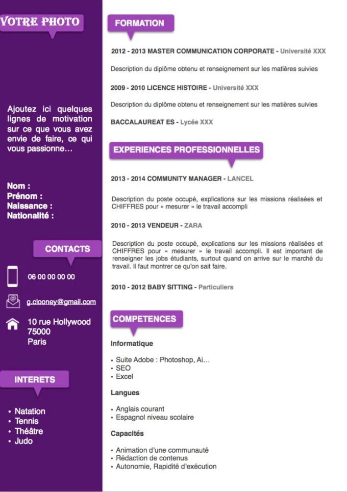 Writing a cv,internship request,work request by Elaida_moha